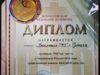 «Ярославна-ТМЗ» заняла третье место