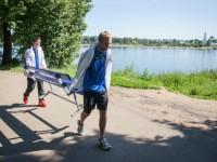 Футболисты «Шинника» приняли участие в экологической акции «Семь рек»
