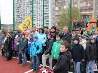В Дзержинском районе прошло открытие еще одной многофункциональной спортивной площадки