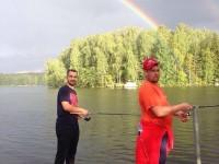 На сборе в Финляндии Даниил Апальков и Евгений Наумов сходили на рыбалку