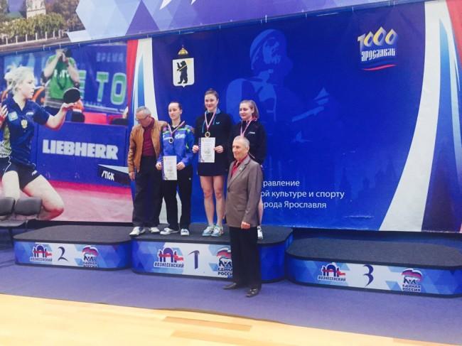 Анна Бойко заняла третье-четвертое место в личном первенстве на Всероссийском турнире по настольному теннису
