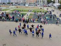 На площади Юности открылась новая детская спортивно-игровая площадка