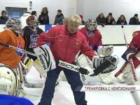 Олимпийские чемпионы провели мастер-класс на одном из ледовых кортов Ярославля