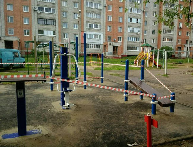 В Ярославле установлены 4 площадки ГТО по программе развития города «Спорт в каждый двор!»