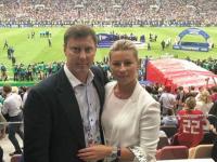 Дмитрий Степаненко посетил финал чемпионата мира с семьей