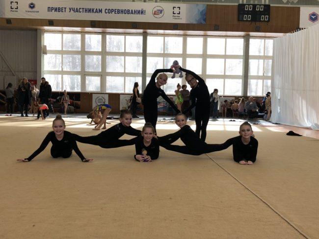 Ярославские девчонки — первые на соревнованиях по эстетической гимнастике
