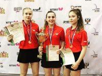 Девушки из Ярославля взяли бронзу на первенстве России по настольному теннису