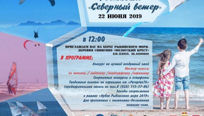 Участники фестиваля «Северный ветер» под Рыбинском смогут покататься на параплане и посмотреть показательные выступления по парусному спорту