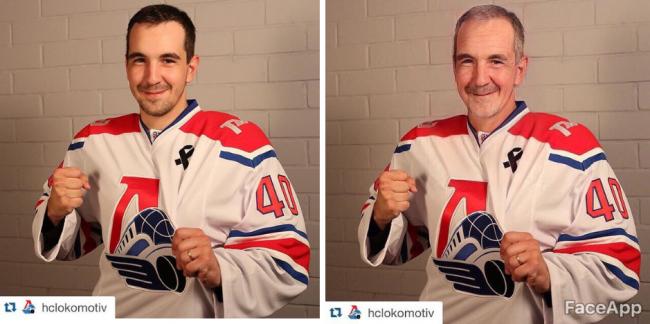 Как будут выглядеть хоккеисты «Локомотива» в старости: ярославские звезды поучаствовали в интернет-флешмобе