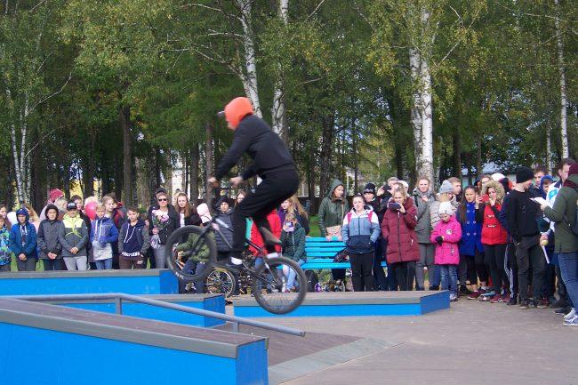 В Угличе состоялось открытие площадки для экстремальных видов спорта