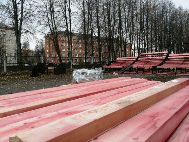 В Рыбинске на стадионе «Сатурн» почти смонтировали скейт-площадку